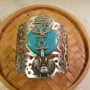 Jewelry - Egyptian charm cuff bracelet